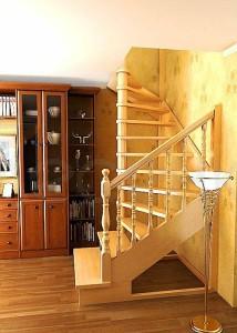 Деревянная межэтажная лестница ЛЕС-03-1