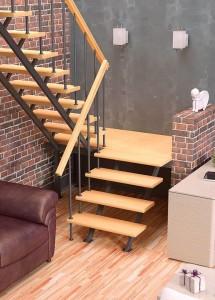 Деревянная межэтажная лестница ЛЕС-06